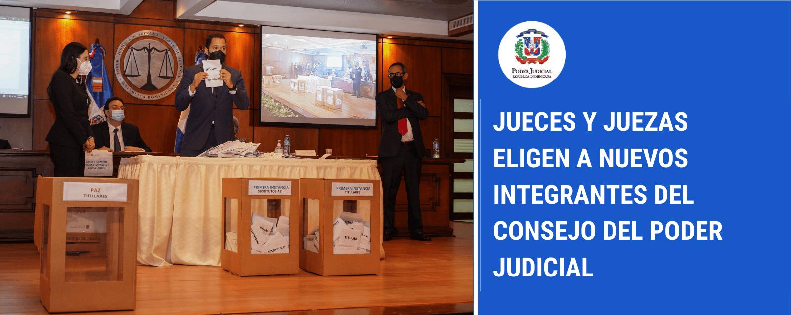 Jueces y juezas eligen a los nuevos integrantes del Consejo del Poder Judicial